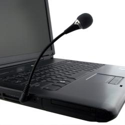 BasAcc Black VOIP/SKYPE Mini Flexible Microphone with 5.75-inch Cable