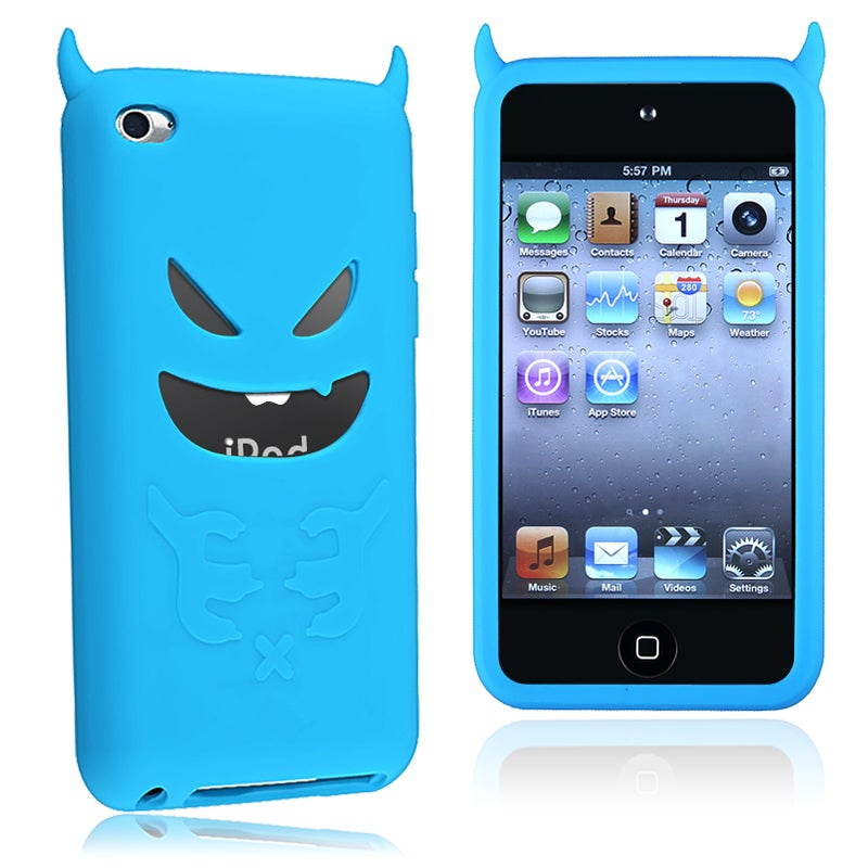 INSTEN Blue Devil Soft Silicone Skin iPod Case Cover for Apple iPod Touch 4th Generation