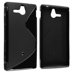 Frost Black S Shape TPU Skin Case for Sony Ericsson Xperia U ST25i
