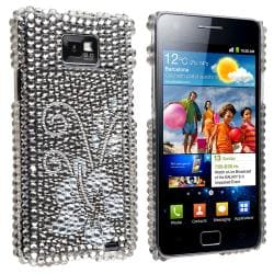 Bling Diamond Flower Snap-on Case for Samsung Galaxy S II i9100