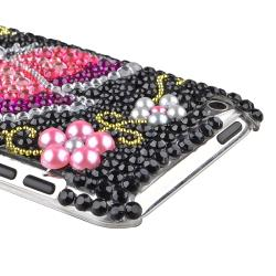 Black/ Bling Pink Butterfly Case for Apple iPod Touch 4th Generation