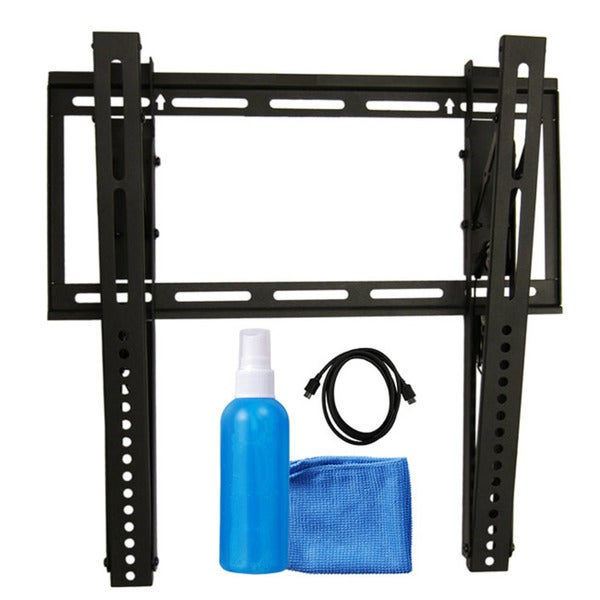 "Arrowmounts Tilt TV Wall Mount for 23"" - 42"" TVs/ 6"" HDMI Cable/ Cleaning Solution & Cloth AM-SLT2342BU"