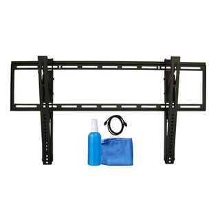 Arrowmounts Tilt TV Mount for 37- to 65-inch TVs/ 6-foot HDMI Cable/ Cleaning Solution/ Cloth AM-SLT3765BUN