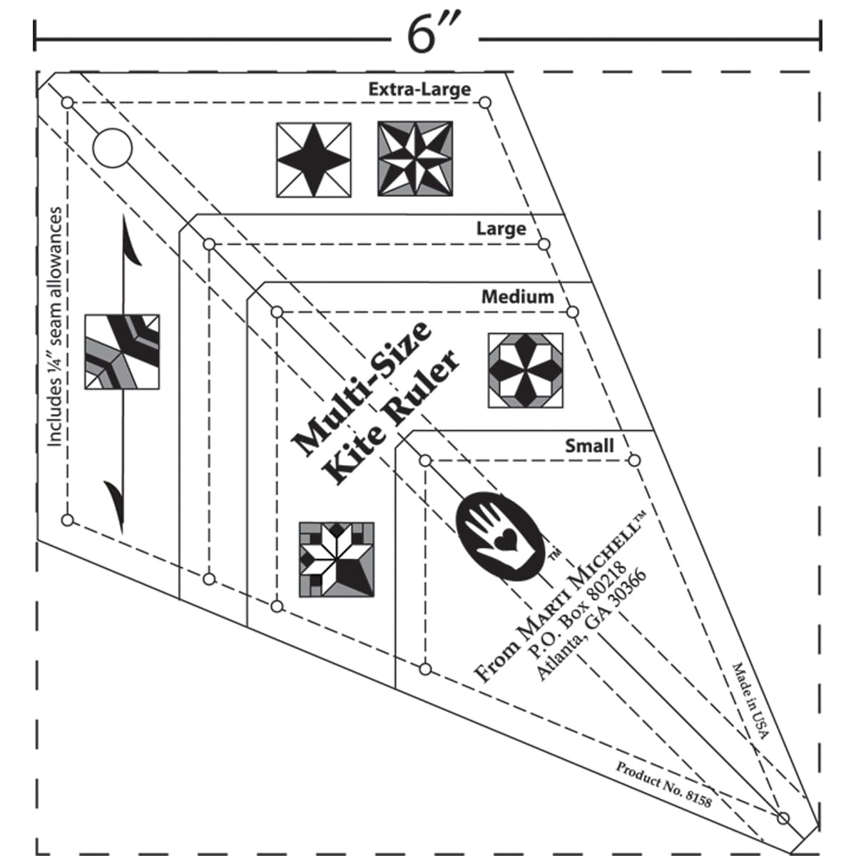Multi-Size Kite Ruler