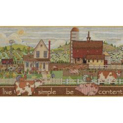 Sentiments Live Simple Be Content Counted Cross Stitch Kit