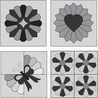 Perfect Patchwork Template-Mini Dresden Plate 4/Pkg