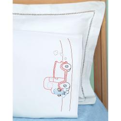Children's Stamped Pillowcase With White Perle Edge 1/Pkg-Old Truck Friend