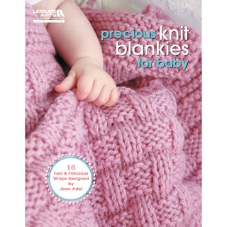 Leisure Arts-Precious Knit Blankies For Baby
