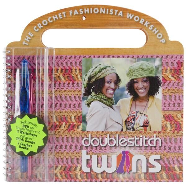 Coats & Clark Books-Red Heart Double Stitch Twins W/DVD