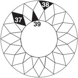 Perfect Patchwork Template-Set F - Sunburst 5/Pkg
