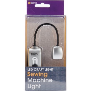 Mighty Bright Silver Plastic Detachable Sewing Machine LED Light