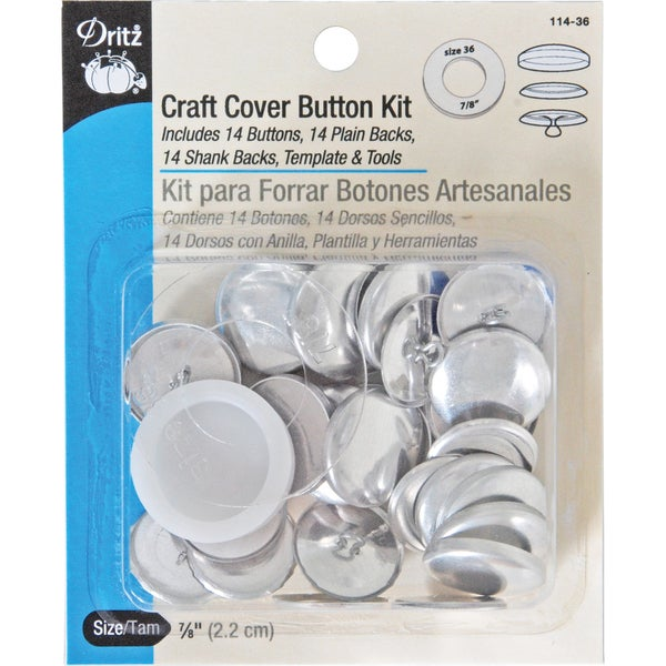 Craft Cover Button Kits-Size 36 14/Pkg