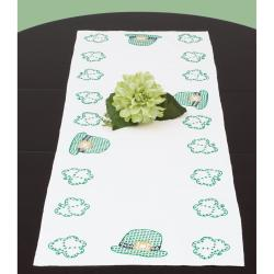 "Stamped Table Runner/Scarf 15""X42""-St. Patrick's Day"