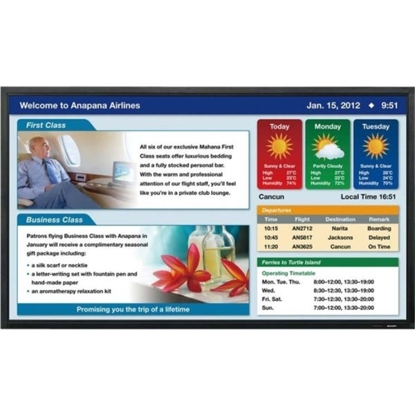 "Sharp Professional PN-E802 80"" LED LCD Monitor - 16:9 - 6 ms"