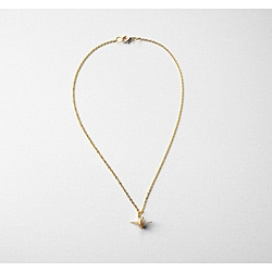 Adrienne Audrey Jewelry Gold Crane Necklace with Ivory Pearl