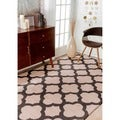 nuLOOM Handmade Moroccan Trellis Abstract Wool Rug (6' x 9')