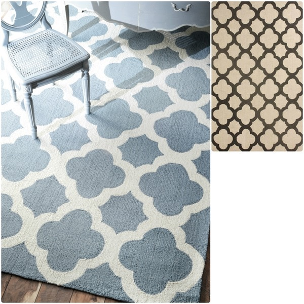 nuLOOM Handmade Moroccan Trellis Abstract-pattern Wool Rug (8'6 x 11'6)