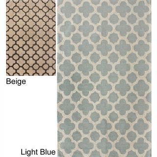 nuLOOM Handmade Moroccan Trellis Abstract-pattern Wool Rug (8'6 x 11'6)