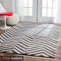 Handmade Alexa Chevron Wool Rug (9&#39;6 x 13&#39;6)
