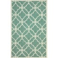 nuLOOM Handmade Indoor / Outdoor Lattice Trellis Blue Rug (8'3 x 11')