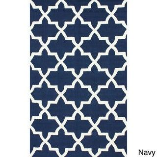 nuLOOM Handmade Alexa Moroccan Trellis Wool Rug (8'6 x11'6)