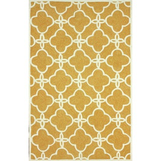 nuLOOM Handmade Indoor / Outdoor Lattice Trellis Natural Rug (8'3 x 11')