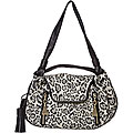 See by Chloe Leopard Canvas/ Leather Satchel