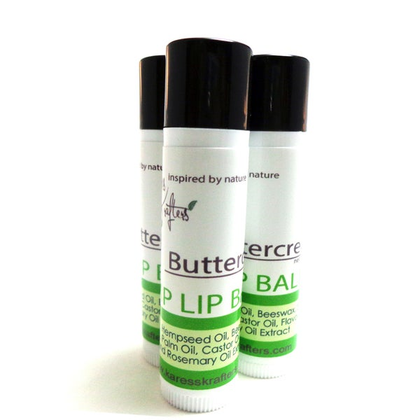 Buttercream Hemp Lip Balm (3 Pack) by Karess Krafters