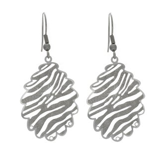 Nexte Jewelry Stainless Steel Abstract Pine Cone Design Dangle Earrings