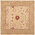 Safavieh Handmade Timeless Ivory/ Sand Hand-spun Wool Rug (6' Square)