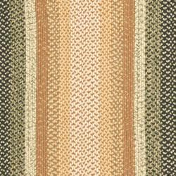 Hand-woven Reversible Blue/ Green Braided Rug (9' x 12' Oval)