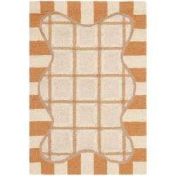Hand-hooked Chelsea Ivory/ Gold Wool Rug (2'9 x 4'9)