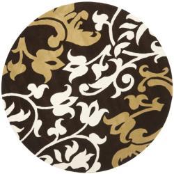 Safavieh Handmade Soho Chrono Brown New Zealand Wool Rug (6' Round)