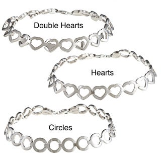 La Preciosa Sterling Silver Matte and Shiny Reversible Bracelet
