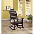 Cappuccino 43-inch Slat Back Rocking Chair