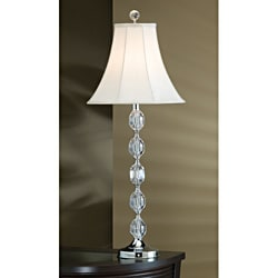 Glass and Metal Traditional 34.5-inch Table Lamp