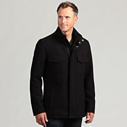 Izod Men's 100 Percent Wool Zip-Front Coat