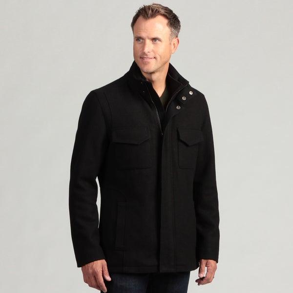 Izod Men 39 S 100 Percent Wool Zip Front Coat 14326817