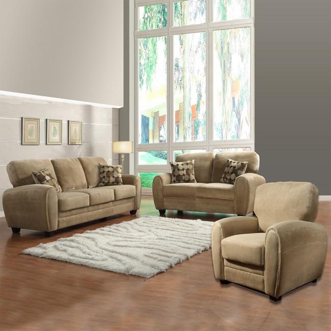 Daventry Light Brown 3-piece Living Room Set