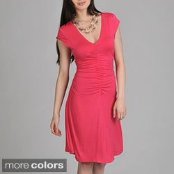 24/7 Comfort Apparel Women's Shirred Front Dress