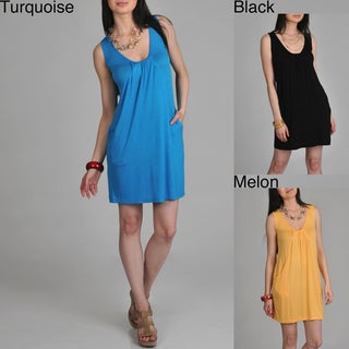 24/7 Comfort Apparel Women's Drape Front Tank Dress