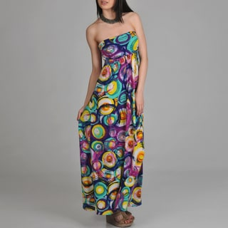 24/7 Comfort Apparel Women's Printed Maxi Dress