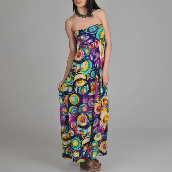 24/7 Comfort Apparel Women's Printed Maxi Dress