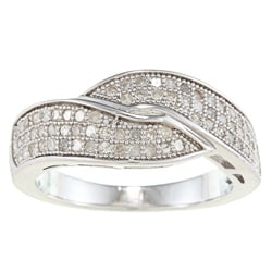Sterling Silver 1/2ct TDW Diamond Bypass Pave Band (G-H, I2)