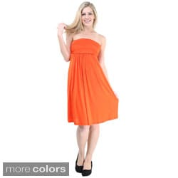 24/7 Comfort Apparel Women's Strapless Dress