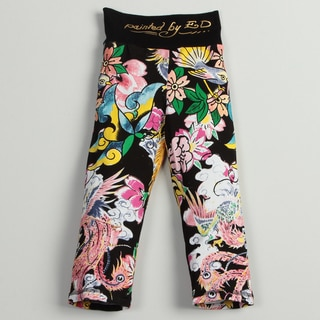 Ed Hardy Girl's 'Floral Print' Sweat Pants