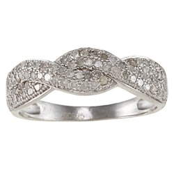 Sterling Silver 1/2ct TDW Diamond Pave Braided Band (G-H, I1-I2)
