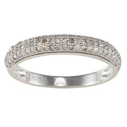Sterling Silver 5/8ct TDW Pave Diamond Band (G-H, I2)