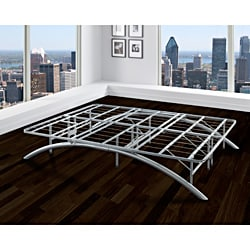 Sleep Sync Arch Flex Double Silver 14-inch Platform Bed Frame