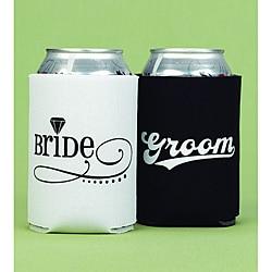 Bride & Groom Can Coolers